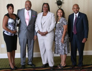L to R: Celaundra Raspberry, Rich Poston, Brenda Cash, Veronica Fields, and Curtis Woods.