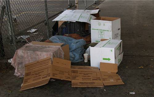 Skid Row homeless