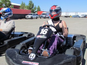 Ms. Lancaster Sidney Roth took to the track at the AV Fairgrounds Tuesday.