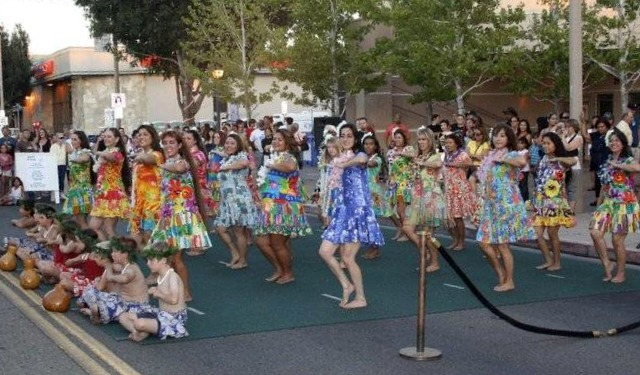 "Polynesian dance group ""Halau Hula O' Kanoelani"" entertain the crowd at a previous AV International Heritage Festival."