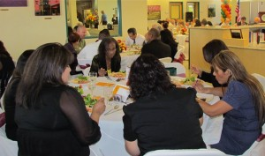 About 75 people attended the S.A.V.E. luncheon Wednesday.