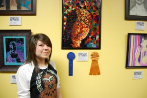 "The annual student art exhibit was held at Lancaster City Hall last year, Briana Maclas won ""Best in Show"" for her self portrait titled ""Deconstructed."""