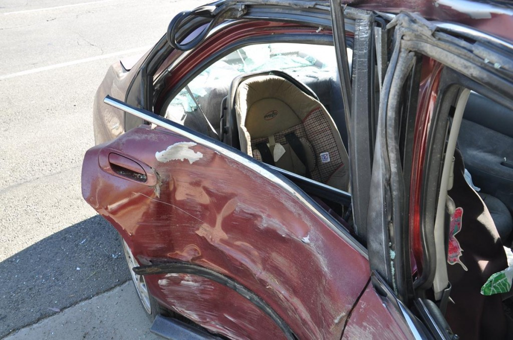 Last September, a driver talking on her cell phone, while traveling at a high rate of speed, clipped the car in front of her, jumped the curb and then crashed into a tree. The collision, which happened on Avenue J and 15th Street West, injured the driver's toddler.