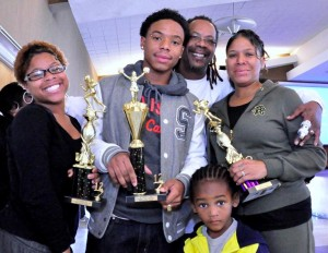 Nehemiah Ross (pictured with his family) won honors for 'Prettiest of the Year.'