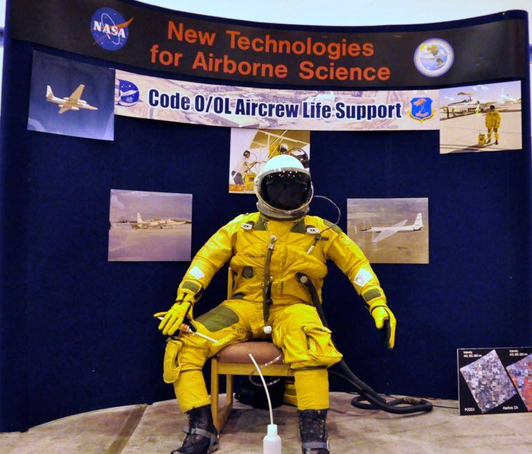 ER-2 Stuart Broce wears this pressurized suit during flights.