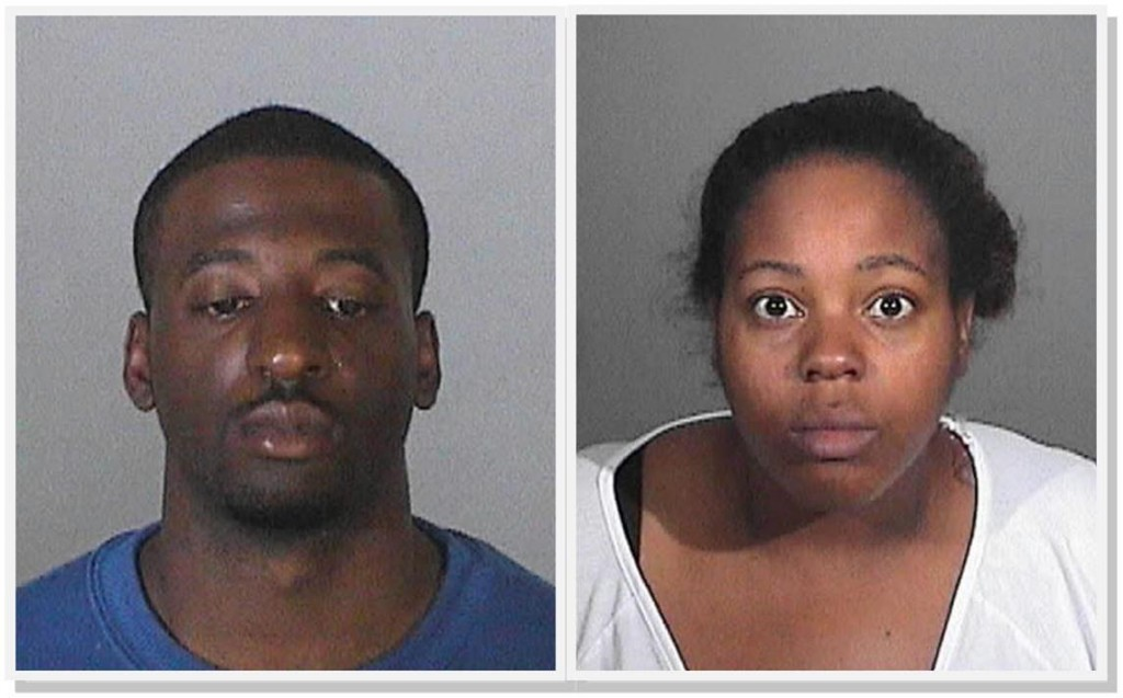 Timothy Johnson and Jinea Ingram. (LASD Booking photos)