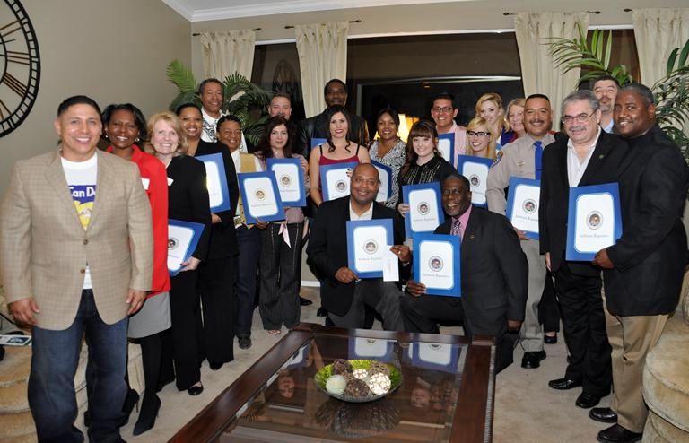 Agents of Change this past weekend recognized several public officials for making positive contributions to the Antelope Valley.