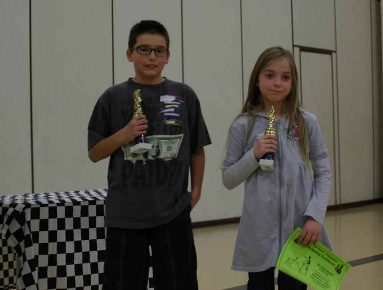 Joseph Curcio won 2nd Place Pawn Game and Briana Bergstrom won 1st.