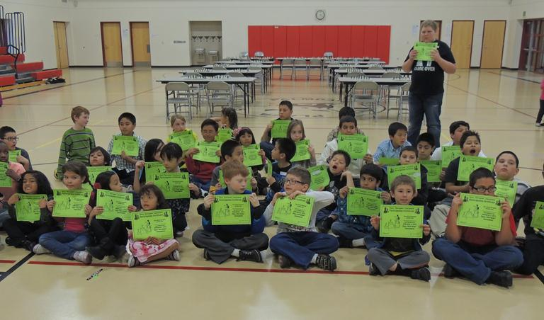 Every participant in the February 2 Chess Tournament at Palmdale Learning Plaza received a Participation Certificate.