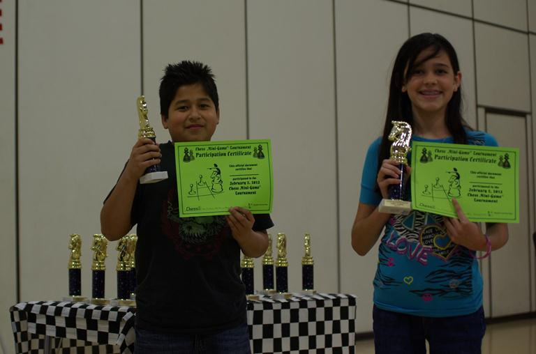 Fifth graders Victor Cuevas and Isabella Magallanes each earned a Good Sportspeopleship trophy.