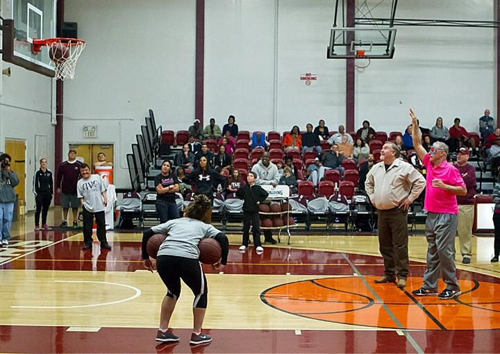 Newton Chelette hit a blind free throw, earning $900 for the cause. (Courtesy AVC Marauder Athletics.)