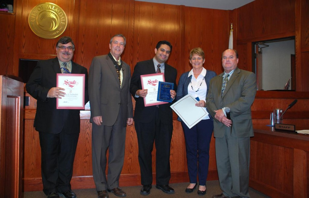 (L to R) Anthony Provenza, Mayor Jim Ledford, Ben Lucha, Lynn Glidden and Mike Mischel.