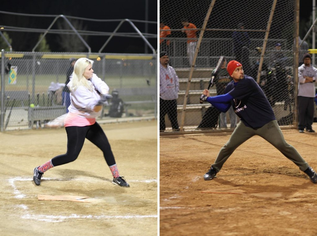 Meredith Idleman plays softball three nights per week, and Mike Fleckner plays on a team from Desert Vineyard church. (Courtesy city of Lancaster)
