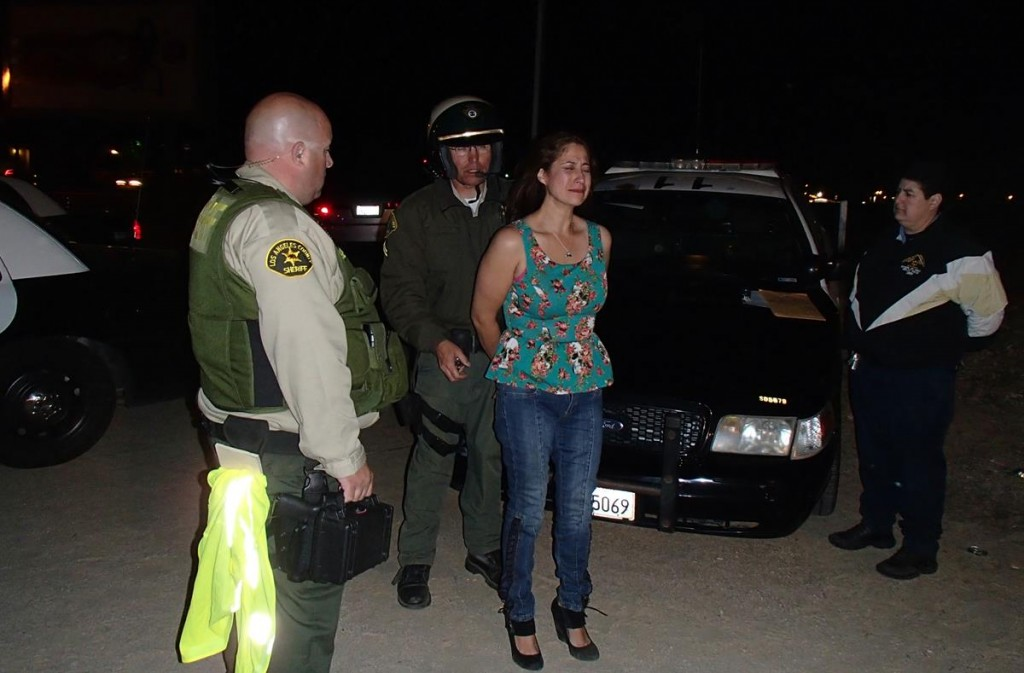 Maria Ayala was one of two drivers arrested for DUI at a Lancaster checkpoint Friday night and early Saturday. (Photo by ED FROMMER)