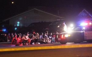 Nearly 50 partygoers were detained and questioned at the scene.