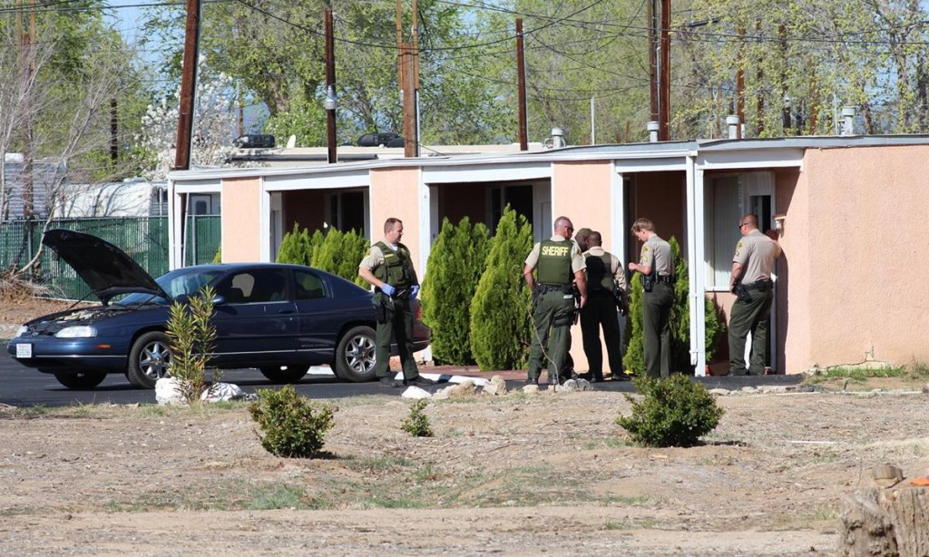 Lancaster Station's Burglary Suppression Team had been tracking a vehicle burglary suspect Christopher Dean and were able to capture him Tuesday morning after a standoff at  The Tropic Motel at 43145 Sierra Highway in Lancaster. (Photo by TONY CHEVAL)