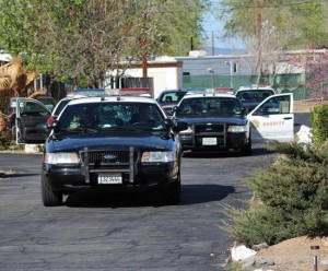 Deputies surrounded contained the area as Dean barricaded himself in a motel room. (TONY CHEVAL)