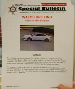 A Tehachapi police detective helped connect the dots after seeing this bulletin.