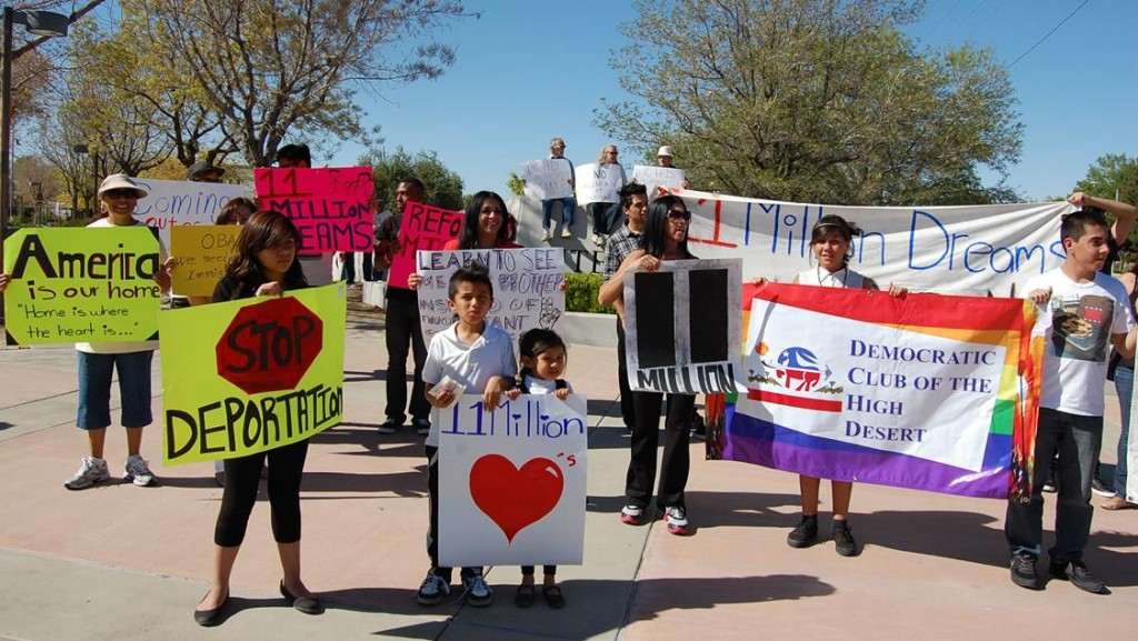 The local rally took place in front of Antelope Valley college on corner of 30th Street West and Avenue K.