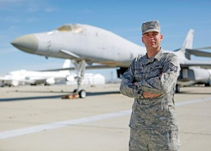 Tech. Sgt. Chad McBunch, 31st Test and Evaluation Squadron B-1 crew chief.  (U.S. Air Force photo by Jet Fabara)
