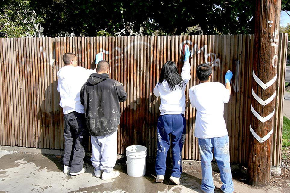 A Graffiti Clean Up project at  Poncitlán Square Gazebo are one of the various service projects taking place on Saturday as part of Global Youth Day.