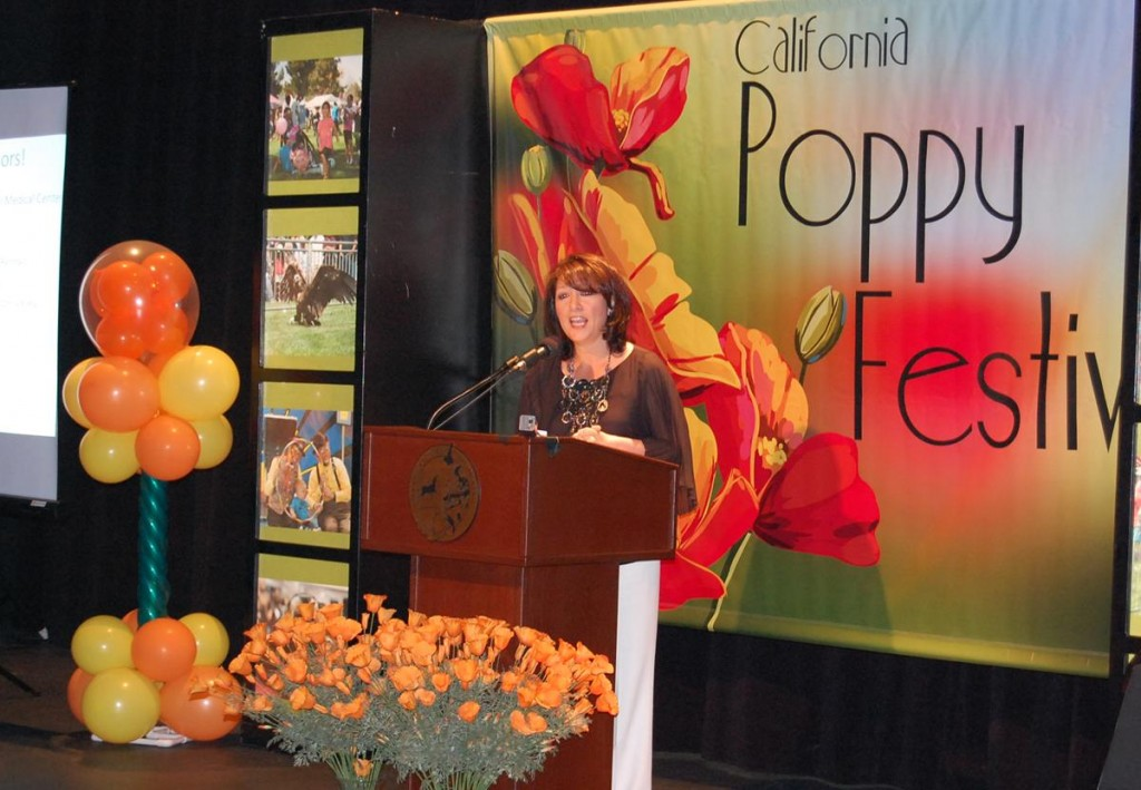 At a press conference Monday, Lancaster Council Member Sandra Johnson gave a preview of what to expect at the 22nd Annual California Poppy Festival.