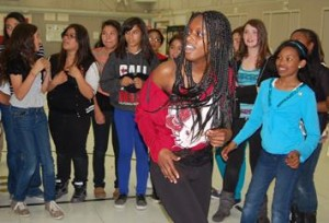 Asia Madden (shown taking part in the dance off) said she learned how to recognize and avoid peer pressure.