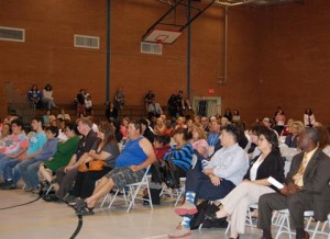 Nearly 300 people attended the forum.