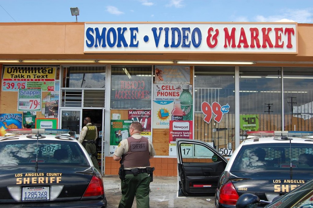 Complaints from the community regarding drug activity at the store prompted authorities to raid the Smoke Video & Market Thursday afternoon.