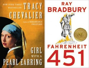 """Girl with a Pearl Earring"" and ""Fahrenheit 451"" are two of the 30 books selected for this year's World Book Night. Both books will be featured at the local event at Hillview Middle School."